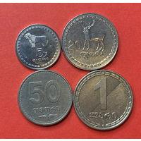 Грузия, 4 разные монеты