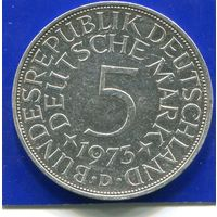 Германия 5 марок 1973 D , серебро