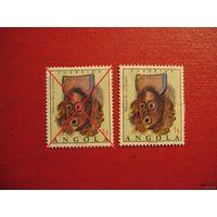 Марка Ангольские маски 1976 год Ангола