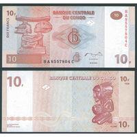 Конго 10 франков из пачки