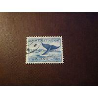 Гренландия  1970 г.Гренландский кит.