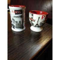 """Два сувенирных фарфоровых изделия из""""Парижа"""""""