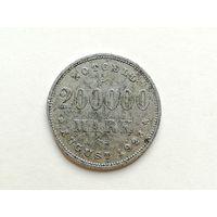 Нотгельд - 200000 марок 1923 года. Нотгельды 1-2-3