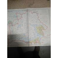 Карта радиационной обстановки БССР 1990