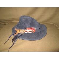 Шляпа охотничья с перьями фирменная BETMAR.Новая!