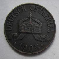 Германская Восточная Африка 1 геллер 1905 J.  1-160