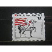 Марка - фауна, лошадь, Хорватия