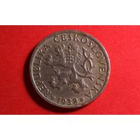 1 крона 1938. Чехословакия.