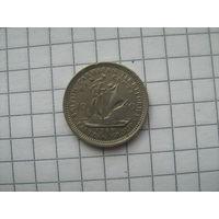 Британские карибские территории 10 центов 1965г.