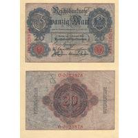 Германия 20 марок 1914 год O-0923878