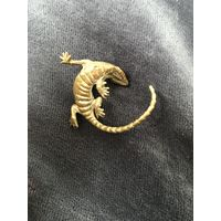 Статуэтка, фигурка, миниатюра Ящерица Латунь/бронза
