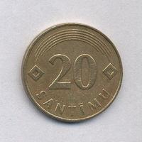 Латвия, 20 сантимов 1992 г.