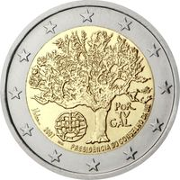 2 евро 2007 Португалия Председательство Португалии в Совете Европейского союза UNC из ролла
