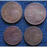 W: Набор, евроцент, Германия, Латвия, Литва (995)