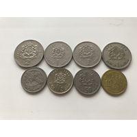Марокко набор 8 монет