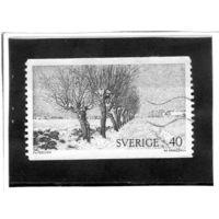 Швеция.Ми-801. Дорога Уиллоуз. Серия: шведские пейзажи.1973.