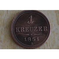 Австрия 1 крейцер 1851А