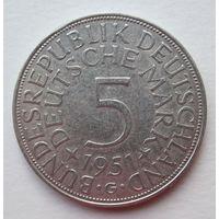 Германия 5 марок 1951G серебро