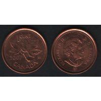 Канада _km490 1 цент 2007 год km490a магнит (f32)*