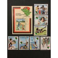 14 центрально американские игры. Никарагуа,1982, 2 полные серии+блок