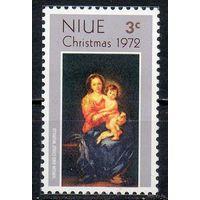 Ниуэ 1972 год Рождество живопись чистая серия из 1 марки