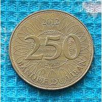 Ливан 250 ливров 2012 года. Ливанский Кедр - символ Ливана.