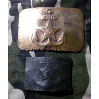 Пряжка малая ВМФ СССР. Довоенная или военная. Редкая. Как есть.