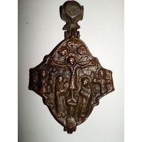 Крест.энколпион квадрифолий .Распятие Христово с Предстоящими и Архангелами/ Богородица Тронная с Архангелами.