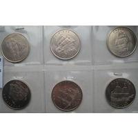 Кирибати (Острова Гилберта) 1 доллар 2014 г. Корабли. Парусники. Цена за 6 шт. (ar)