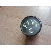 Авиационный прибор Аналоговый стрелочный манометр 0-15 кг см2