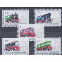 [988] Албания 1989. Поезда,локомотивы.