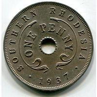 ЮЖНАЯ РОДЕЗИЯ - ПЕННИ 1937
