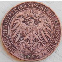 20. Немецкая восточная африка 1 песа 1892 год