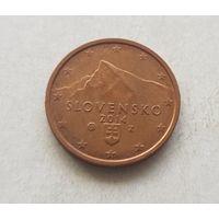2 евроцента 2014 Словакия