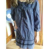 Платье из натуральной ткани крутую девочку 9 -10 л
