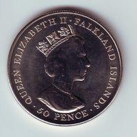 Фолклендские острова. 50 пенсов 2001 г.