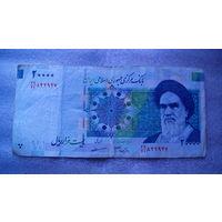 Банкнота Иран 20 000 риалов не датирована. распродажа