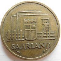 5 Германии Саарланд 20 франков 1954 год