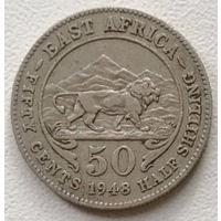 Британская Восточная Африка 50 цент 1948