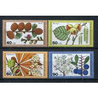 Берлин - 1979г. - Листья, цветы и фрукты леса - полная серия, MNH с отпечатками [Mi 607-610] - 4 марки