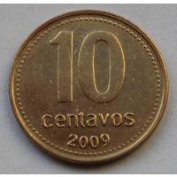 Аргентина 10 сентаво, 2009 г. Магнитная.