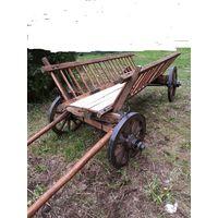 Настоящая деревенская телега