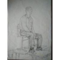 Рисунок, карандаш 90-е