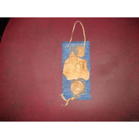 Вымпел Лидский замок с гербом Погоня, (керамика, лён) ручная работа