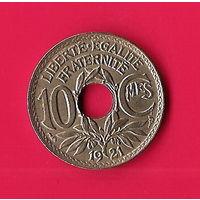 42-02 Франция, 10 сантимов 1921 г.
