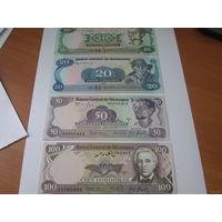 Никарагуа набор банкнот 1984-1985 гг.