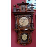 Часы настенные до 1917г. Германия. Размер с короной 38-80 см.