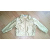 Курточка золотистая из кожзама