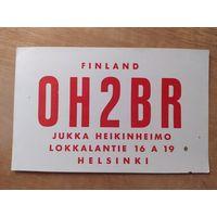 QSL-карточка из Финляндии, 1960 год.