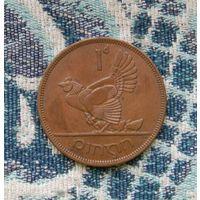 Ирландия 1 пени 1968 года. Большая красивая монета в коллекцию!